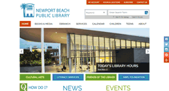 Preview of newportbeachlibrary.org