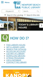 Mobile Preview of newportbeachlibrary.org