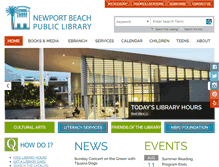 Tablet Preview of newportbeachlibrary.org